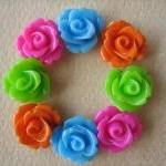 8PCS - Mini Rose Flower Cab..