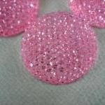 4PCS - Pink - Resin Rhinest..