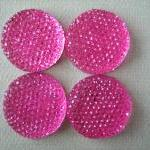 4pcs - Hot Pink - Resin Rh..