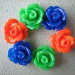 6PCS - Mini Rose Flower Cab..